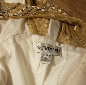 Sherri Hill Dresses - White formal A line Sherry Hill gown size 0